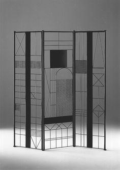 Paravento - design by Bruno Munari - 1991 Partition Design, Divider Design, Partition Screen, Divider Ideas, Metal Room Divider, Room Dividers, Room Divider Screen, Living Room Divider, Room Screen