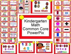 WBT with Scrapbunny: Math Common Core PowerPix for Kinder These are GREAT! I can't wait to use them this year in my Kindergarten classroom. Teaching Rules, Teaching Kindergarten, Teaching Posts, Student Teaching, Teaching Ideas, First Grade Sight Words, First Grade Math, Second Grade, Common Core Math