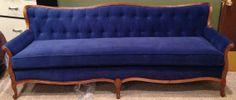 Vintage Blue Velvet Sofa by Vintagestaging on Etsy, $1300.00