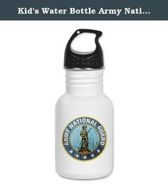 Kid's Water Bottle Army National Guard Emblem. Product Number: 0001-1486600857 Perfect for school lunches or soccer games, our kid's stainless steel water bottle quenches children's thirst for individuality. Personalized for what kids love, it's both eco-friendly and compact. Made of 18/8, food-grade stainless steel. * No lining & no BPA or other toxins * Wide mouth for easy drinking * Durable, BPA-free & phalate-free screw-on top * Holds 0.35L (nearly 12 ounces) * Thin profile to fit…