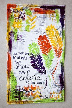 art journal ideas | art journal idea- good message | Art journals