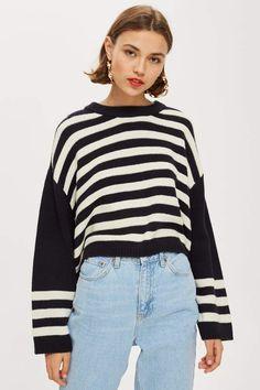 9e1496d326 Ottoman Stripe Cropped Jumper - New Semester Essentials - Clothing