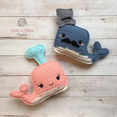 Ravelry: Whale Amigurumi pattern by Spin a Yarn Crochet Crochet Bebe, Crochet Yarn, Free Crochet, Crochet World, Nautical Crochet, Whale Pattern, Free Pattern, Crochet Patterns Amigurumi, Crochet Animals