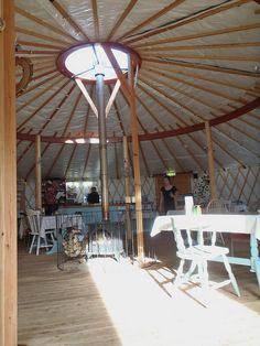 Inside a Yurt...Spacious:)