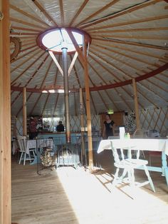 Inside a Yurt...Spacious:)