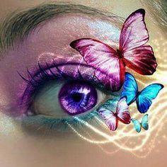 Makeup vlinder