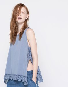 T-SHIRT WITH CROCHET HEM - NEW PRODUCTS - WOMAN - PULL&BEAR Mexico