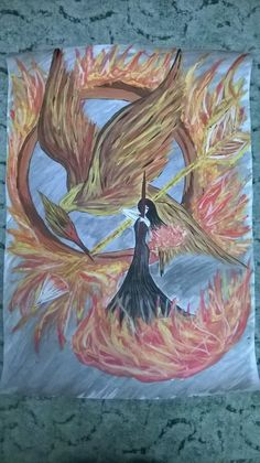 Lovely artwork of the Girl on Fire! RT @KendallsGirl11: Look at this! #TheHungerGames This is my drawing :)