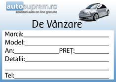 Formular Vanzare Auto