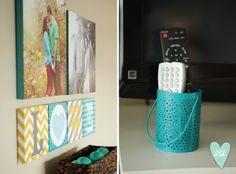 Master Bedroom in Grey, Mustard & Teal-- Design Loves Detail