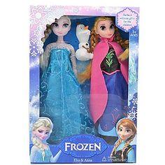 """Frozen Faerie Tale Queens Sparkle Princesses Elsa and Anna Vocal Olaf Snowman Doll (2pcs 14"""") – USD $ 17.99"""
