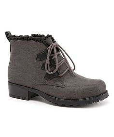 Loving this Gray Combo Snowflakes III Ankle Boot on #zulily! #zulilyfinds