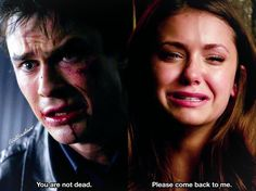 [3x22/5x22] Damon and Elena reacting to each other's deaths. These two finals killed me