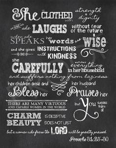 Scripture Art Proverbs 312530 Chalkboard by ToSuchAsTheseDesigns, $15.00
