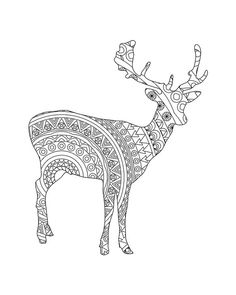 Find This Pin And More On Deer Adult Coloring Pages By Coloringtoolkit