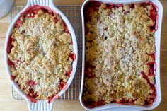 I've baked more fruit crisps in the last few years than I could count on both my hands and all of your toes. And no matter which sweet thing has managed to find its way into my gaping maw bet…