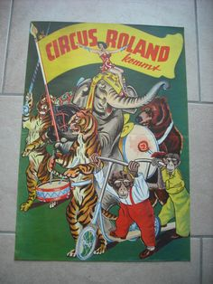 ANCIENNE AFFICHE (vintage poster) - CIRQUE CIRCUS CIRCO - ROLAND KOMMT CIRCUS | eBay
