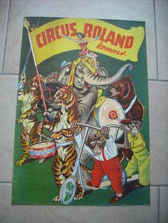 ANCIENNE AFFICHE (vintage poster) - CIRQUE CIRCUS CIRCO - ROLAND KOMMT CIRCUS | eBay