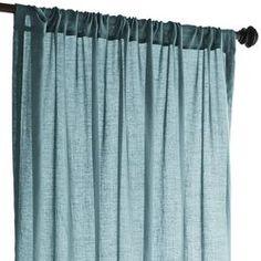 """Quinn Sheer Curtain - Teal 84"""""""