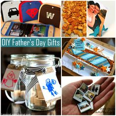 DIY Fathers Day Gifts - love the polaroid magnets!!