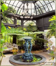 A Gardener's Custom Greenhouse A superb rendition of the iconic Victorian-era conservatory, the design of this fully functional, yet completely custom greenhouse is based upon the renowned Conservatory of Flowers in San Francisco's Golden Gate Park.