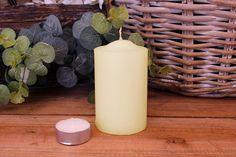 Κεριά Κυλινδρικά Εκρού Φ6x10εκ Pillar Candles, Taper Candles