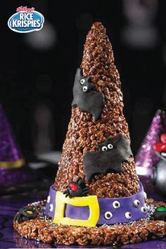 Rice Krispies Witch's Hat Treats — Giant and chocolatey, this Halloween dessert work of art looks and tastes so good, the recipe will have you and your party guests under its spell.