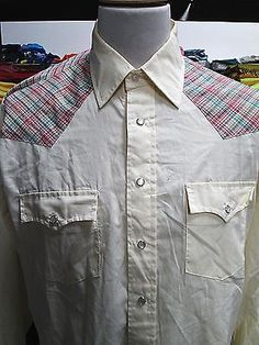 Vintage UNKNOWN BRAND Obscure Festival Yoke Cowboy Shirt Large