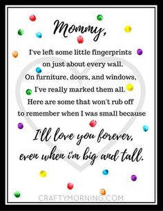 Free Mother's Day Fingerprint Poem Printable - Crafty Morning (Valentins Day Poems For Kids) Mothers Day Poems, Mothers Day Decor, Mothers Day Images, Happy Mother Day Quotes, Mothers Day Crafts For Kids, Fathers Day Crafts, Mothers Day Cards, Mother Day Gifts, Mother Quotes