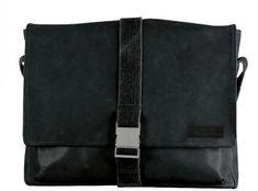 Goldhawk Klickverschluss Leder schwarz Collegetasche Strellson - Bags & more Strellson, Messenger Bag, Bags, Fashion, Dime Bags, Leather, Black, Handbags, Moda