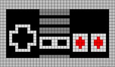 Cross Stitch Charts NES perler bead pattern - but it could translate to a charted crochet blanket pattern or cross stitch. Crochet Game, Crochet Chart, Crochet Blanket Patterns, Pixel Crochet Blanket, Hama Beads Patterns, Loom Patterns, Beading Patterns, Embroidery Patterns, Beaded Cross Stitch