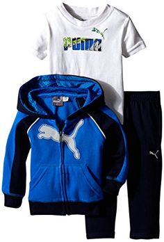 PUMA Baby Boys 3pc Hoodie Tee Pant Set Sky Blue 18 Months * See this great product.