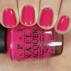 OPI Apartment For Two Holiday 2016 Breakfast At Tiffany's Collection Peachy Polish Fancy Nails, Cute Nails, Pretty Nails, Spring Nails, Summer Nails, Summer Nail Polish Colors, Spring Nail Colors, Pink Summer, Opi Nail Colors