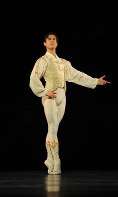 Gorgeous male ballet costume in gold- Royal Ballet