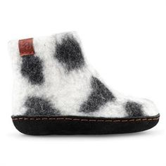 Lækker lys filtstøvle med sort mønster fra Green Comfort