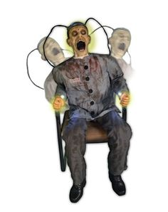 Electrocuted Prisoner Decoration - I MUST order this! Can't wait to scare the neighborhood kids this Halloween!