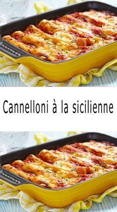 Cannelloni à la sicilienne - Turri's Italian Foods Casserole Recipes, Pasta Recipes, Appetizer Recipes, Pasta Carbonara, Goulash Recipes, Crockpot Recipes, Cannoli, Alfredo Recipe, Food For A Crowd