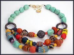 KENYA  Mixed African Beads  Very Old by sandrawebsterjewelry, $245.00