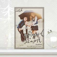 Make it a 'Neon Season.' #Holiday Photo Cards by Petite Alma for Tiny Prints in Black