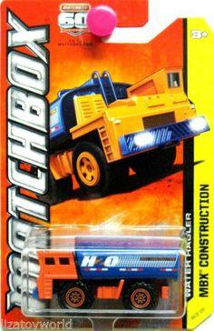 Water Hauler MATCHBOX 2013 MBX Construction 60th Anniversary Orange/Blue #44/120