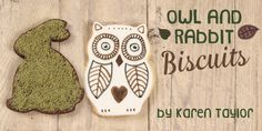 Adorable Fall themed rabbit and owl cookies from Squires kitchen