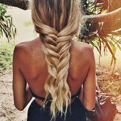 thick blonde braid