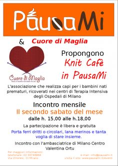 Knit Cafè con il cuore | e-participation ed eventi a Milano e sua area metropolitana: cittadini e amministratori assieme per una citta' partecipata