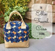 Ellie Travel Case – Free Sewing Tutorial by Fabric Mutt  and Zippers Made Easy  by All People Quilt