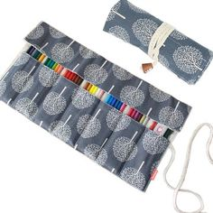 Damero New Canvas Pencil Wrap Case Pencils Roll Holder For 72 Colored NO Included Crochet Hooks And Gadgets Tree Capacity