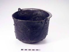 9-11th century Sollerön, Dalarna, Sweden. Smallish iron cooking pot
