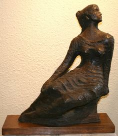 Charles Umlauf   Seated Muse   Stoneware   21 x 18 x 7 Russell Collection Fine Art Gallery :: Austin, Texas info@russell-collection.com for pricing inquiries