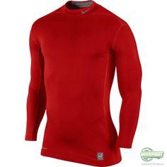 Nike - Pro Hyperwarm Compression Mock L/E Rød Sport, Nike Pros, Sweatshirts, Sweaters, Fashion, Moda, La Mode, Pullover, Sweater