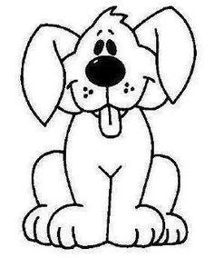 dog for rocks Applique Templates, Applique Patterns, Applique Designs, Quilt Patterns, Cartoon Drawings, Cute Drawings, Animal Drawings, Dog Quilts, Baby Quilts