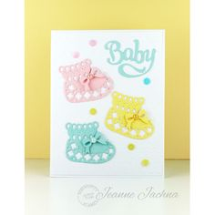 Serendipity Stamps Baby Bootie and Bow Die Set and Baby Die.